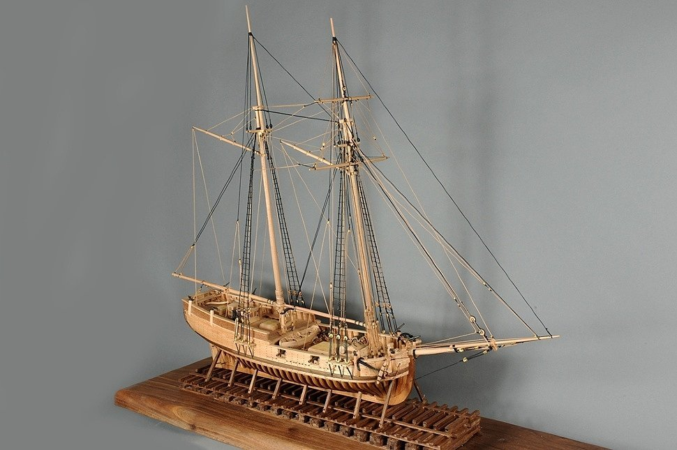 Фотографии модели корабля Schooner Hannah 1775