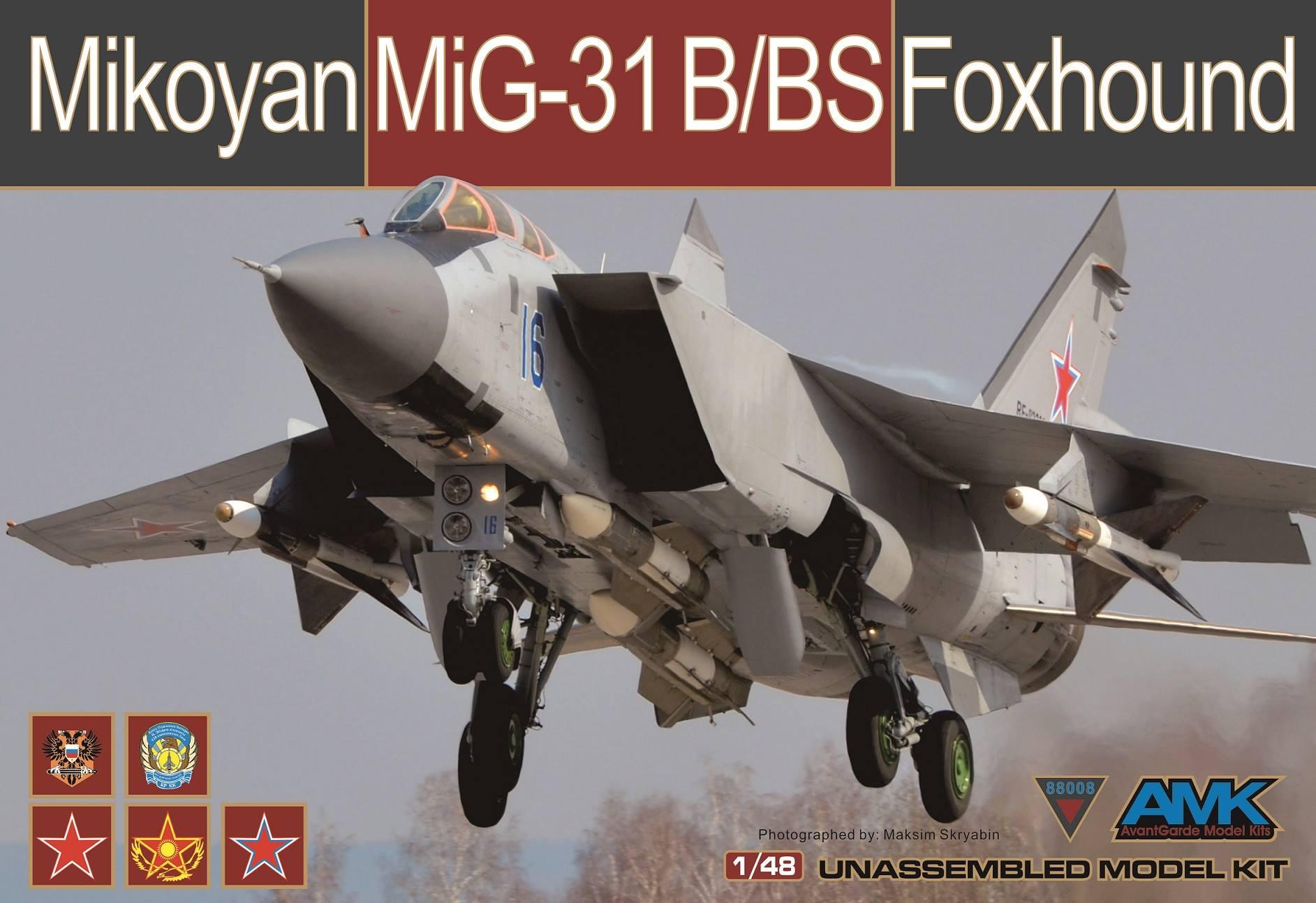 Модель самолета AMK 1/48 Mikoyan MiG31 B/BS Foxhound