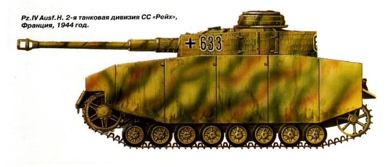 Камуфляж танка «Panzer IV»