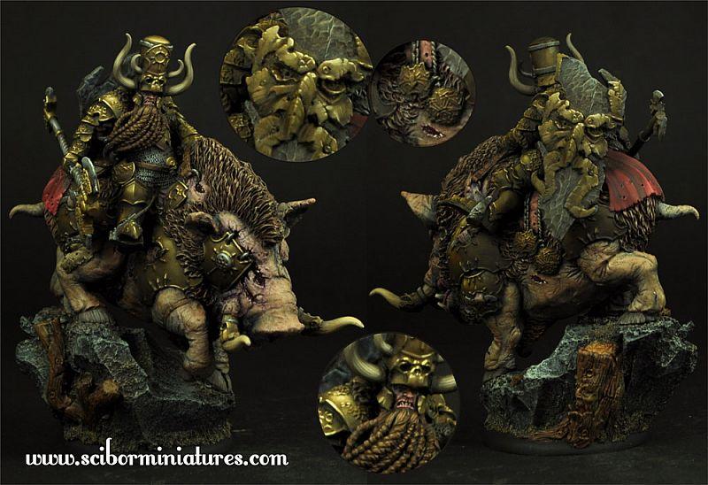 """Moscal Dwarf on War Boar"""" (54mm)"""