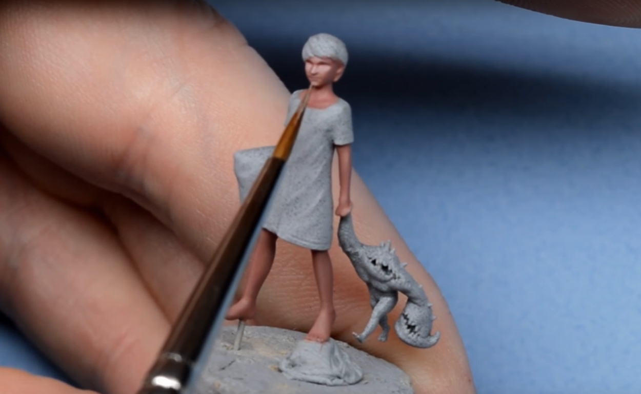 Красим кожу для миниатюр Малифо