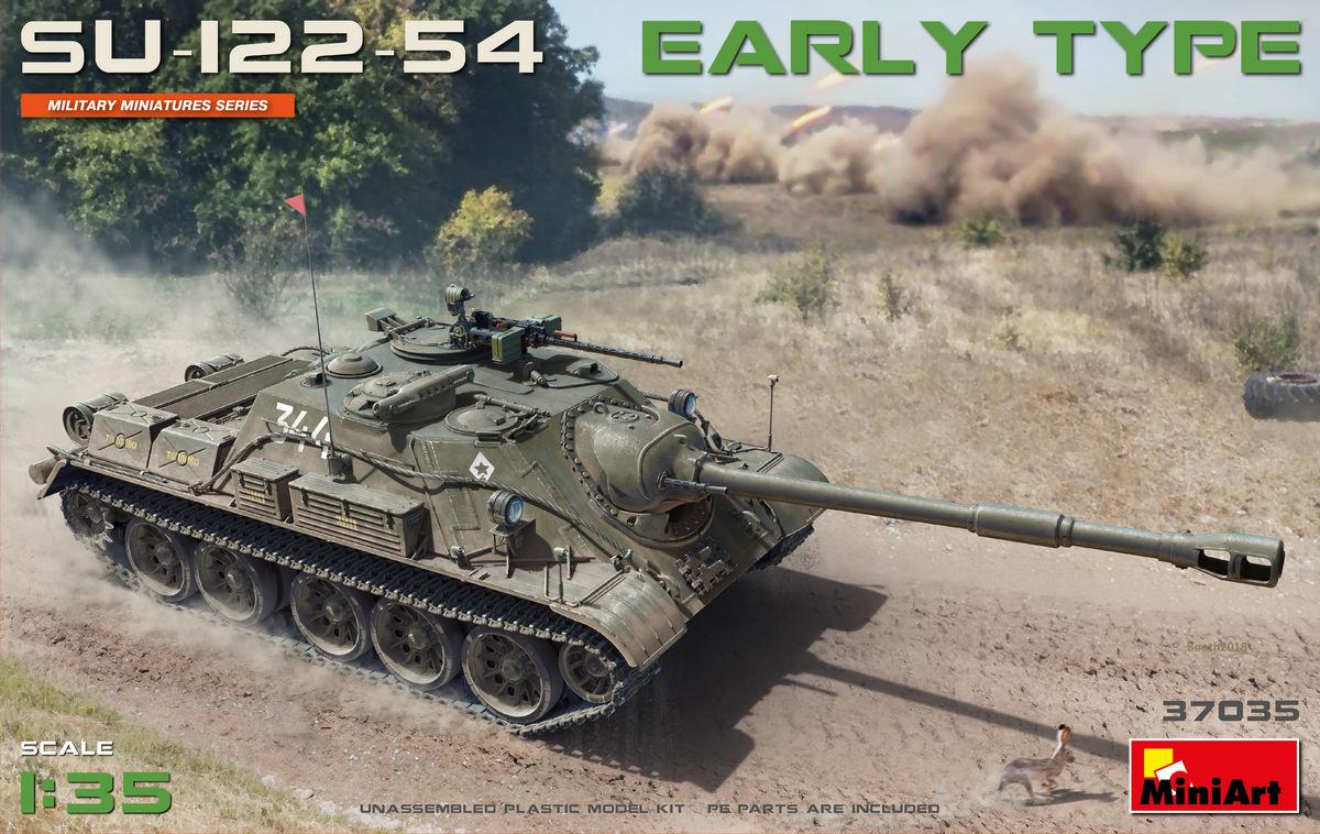 Новая модель в продаже: САУ СУ-122-54 раннего типа (37035 MiniArt 1:35)