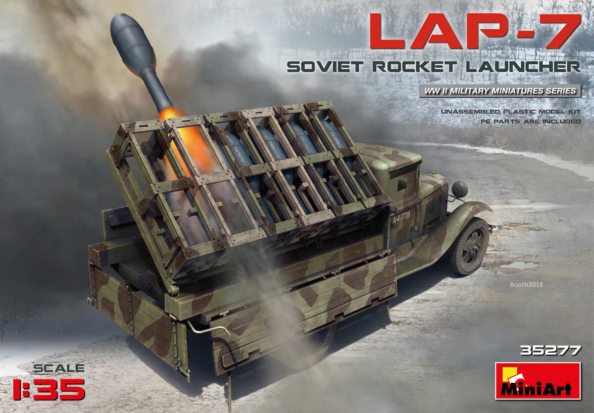 Новая модель в продаже: Советская ракетная установка ЛАП-7 (1:35 - Miniart 35277)