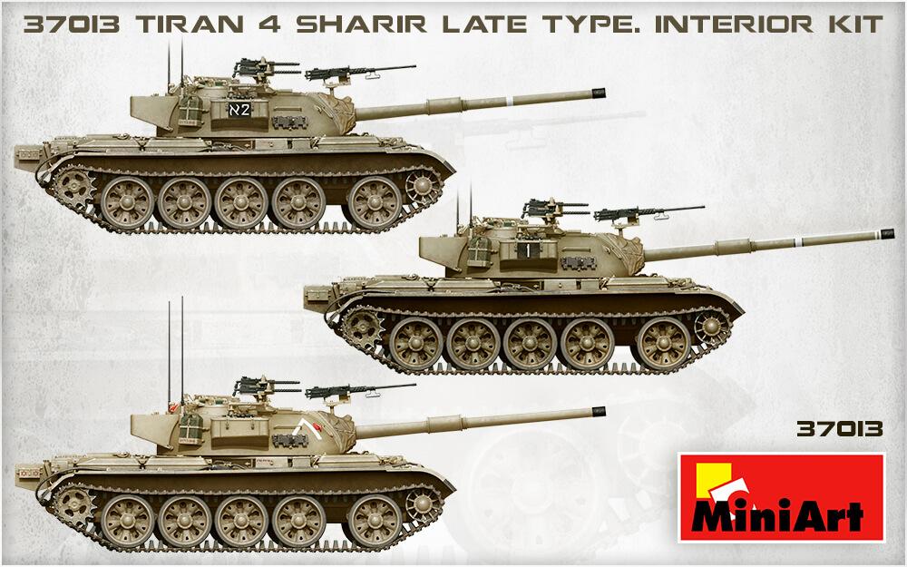 Танк Tiran 4 Sharir с интерьером (1/35 - MiniArt 37013)