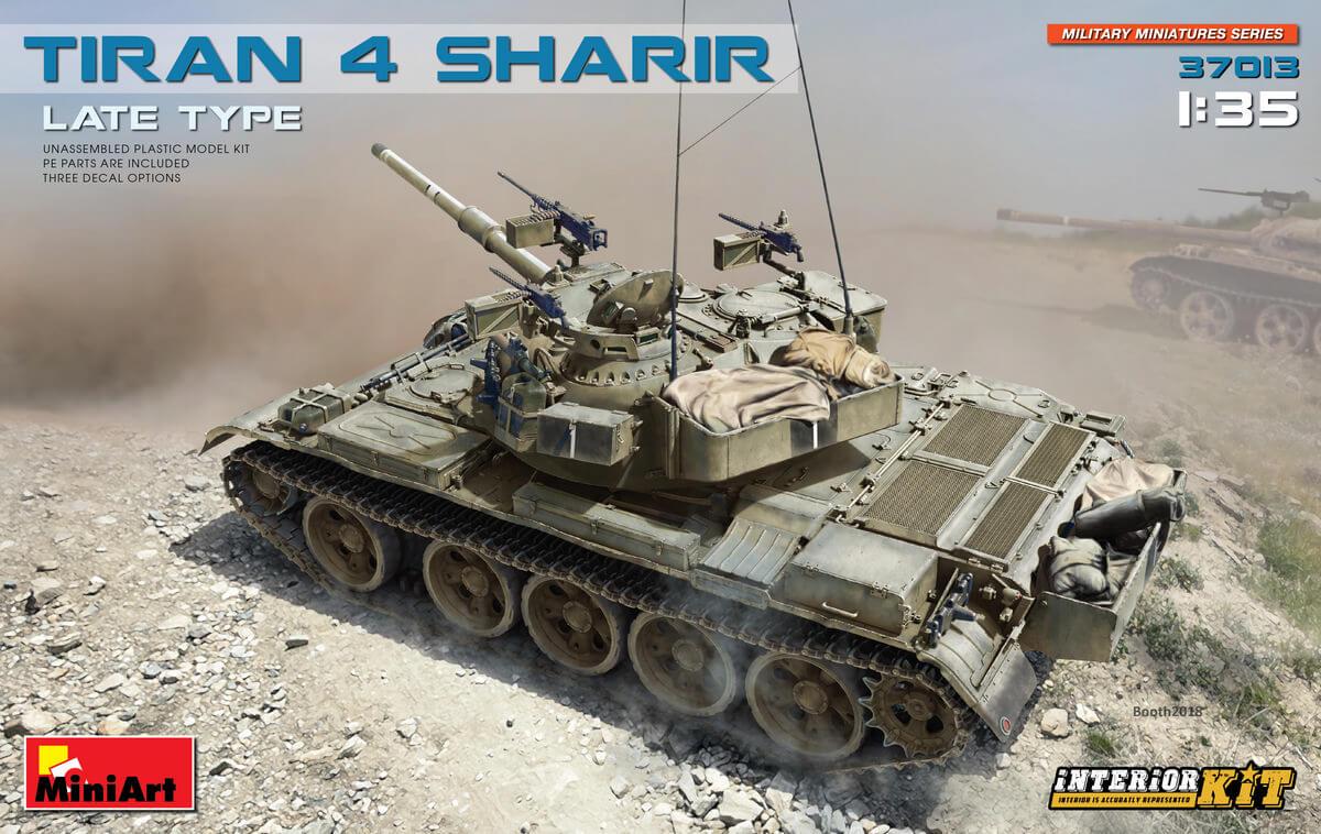 Новая модель: Израильский танк Tiran 4 Sharir с интерьером (1:35 - MiniArt 37013)