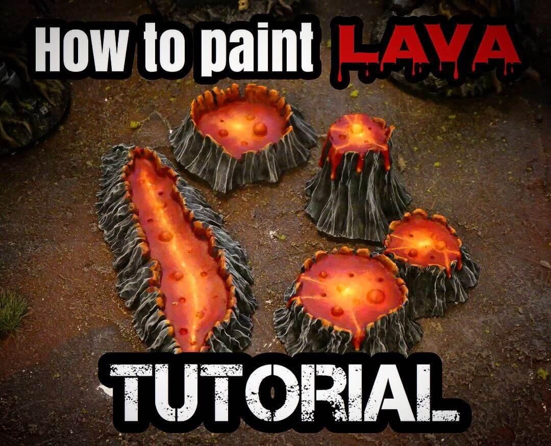 Как рисовать лаву