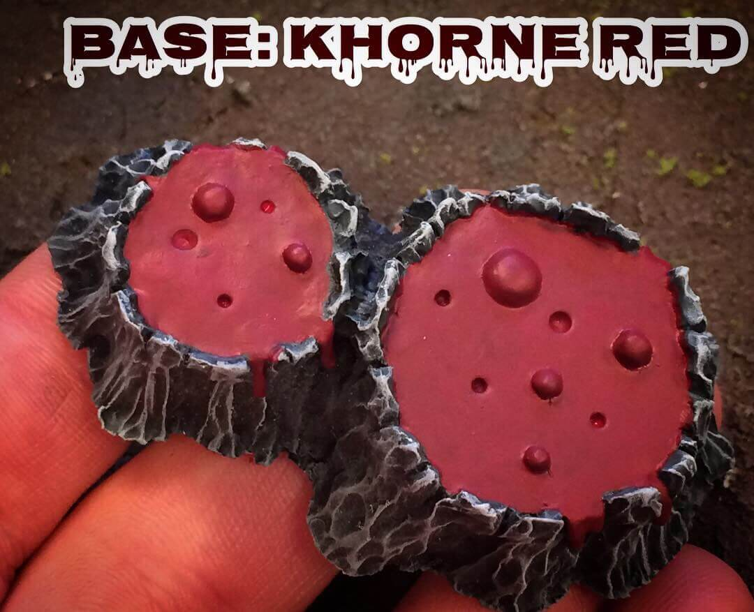 Базовый цвет Khorne Red - Как рисовать лаву