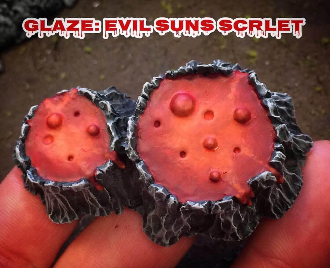 Глейз Evil Sunz Scarlet - Как рисовать лаву