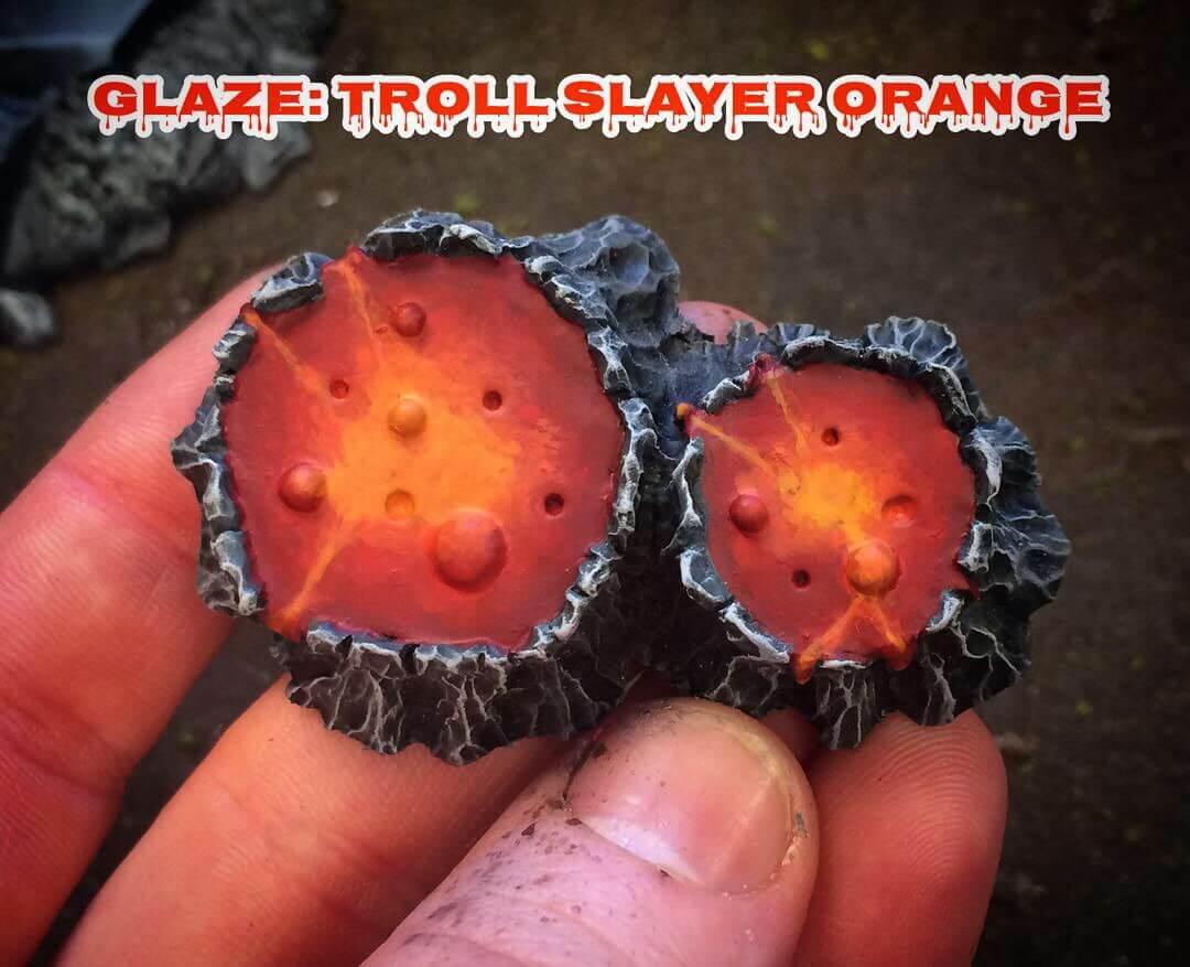 Глейз Troll Slayer Orange - Как рисовать лаву