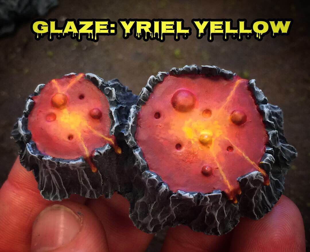 Глейз Yriel Yellow - Как рисовать лаву