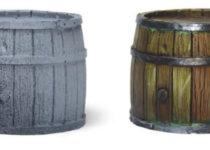Красим деревянные бочки - пошаговый гайд