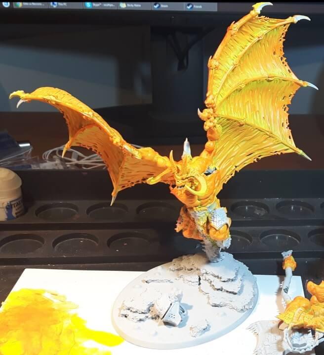 Наносим желтый цвет - Руководство по созданию лавы и текстуры магмы