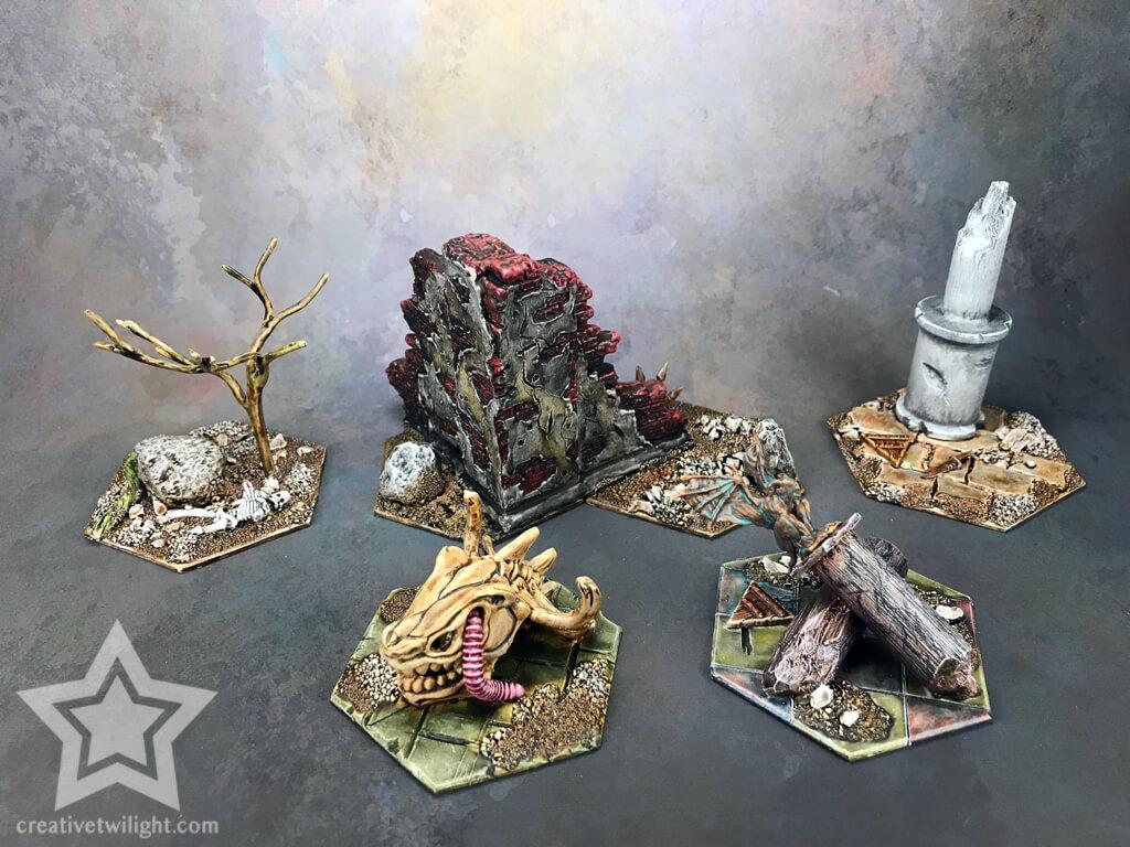 Террейн Warhammer Underworlds, пример глейзинга - Туториал по глейзингу