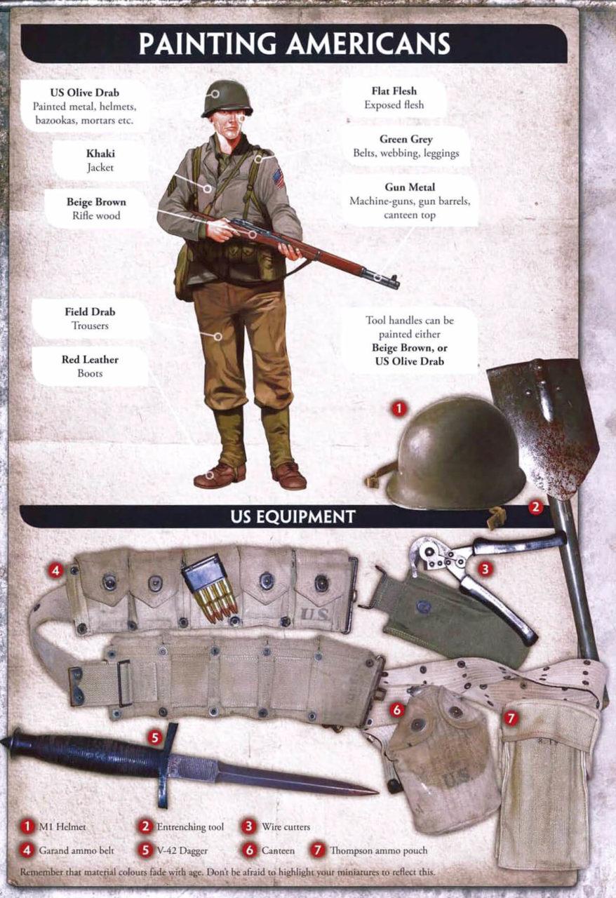 Схемы покраски униформы для Flames of War